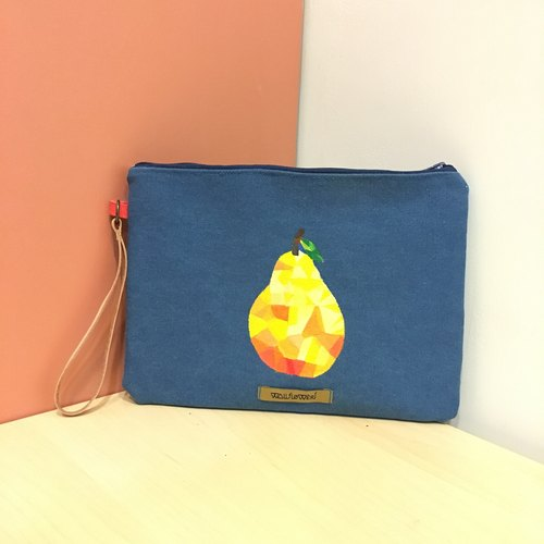 Dual-use bag | hand-painted pattern | Pear