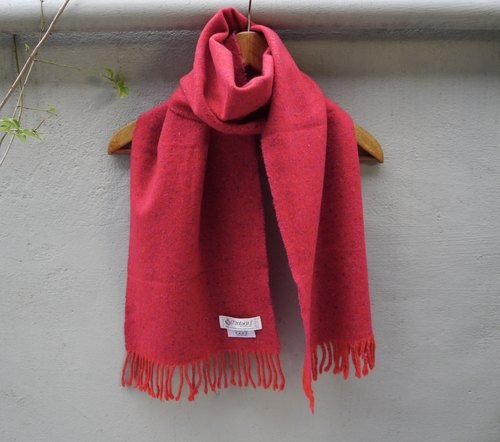 FOAK vintage British system of pure wool pink Herringbone Scarf