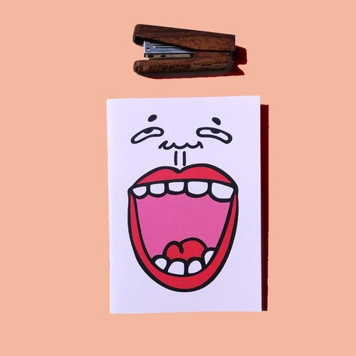 """People person"" Fun illustration Notebook - Smile (NoteBook, stationery, office small objects, gifts)"