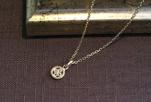 【Order Production】 Petit Lumiere Necklace diamond Diamond K18YG