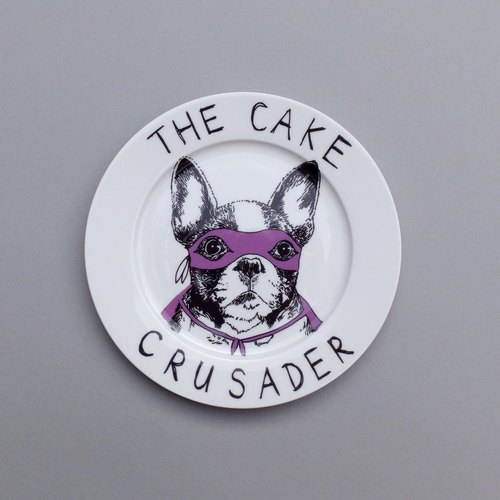 The cake crusader 骨瓷餐盤