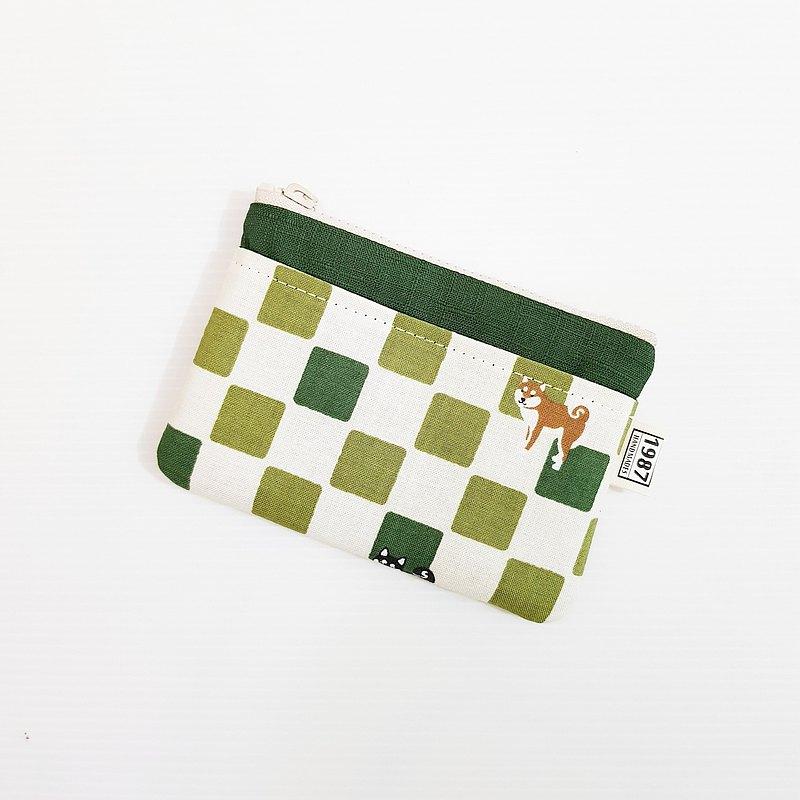【抹茶柴犬-深綠】 少女系!!! 零錢包 手拿包 隨身包 拉鏈袋 聖誕禮物