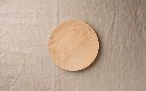 No.09 fir of wooden plate 18cm