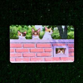 Three cat shop ~ little name (horizontal) card stickers