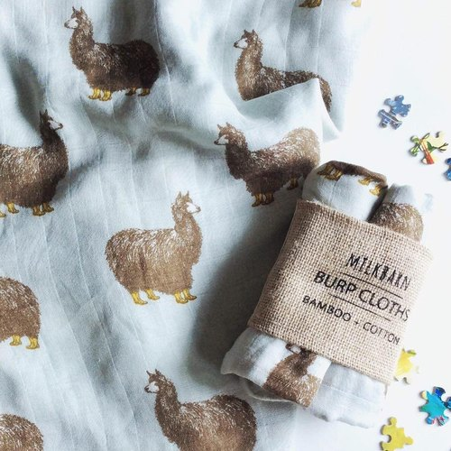 MILKBARN bamboo silk cotton towel two piece set