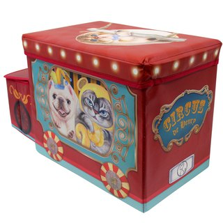 Storage box - red circus