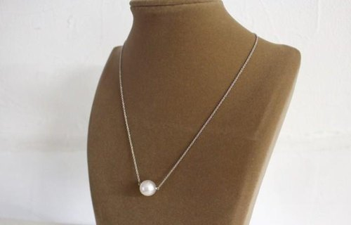 South Sea pearls silver necklace