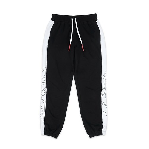 LLANO 2016 summer vintage sports series bundle foot strap black cotton trousers original design LOGO