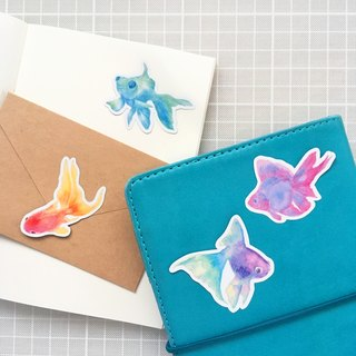 middle goldfish sticker set (4piece)
