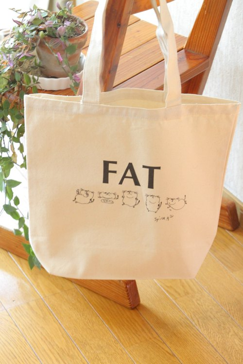 """FAT"" canvas tote bag"