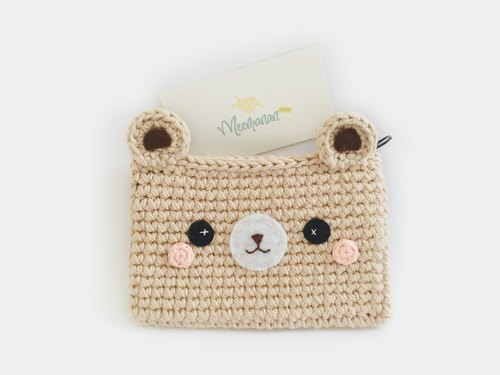The Crochet Bear Coin Purse