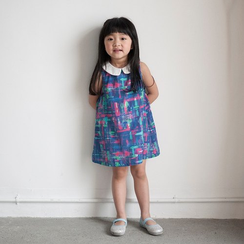 Flow color palette sleeveless dress _ blue purple _ children section