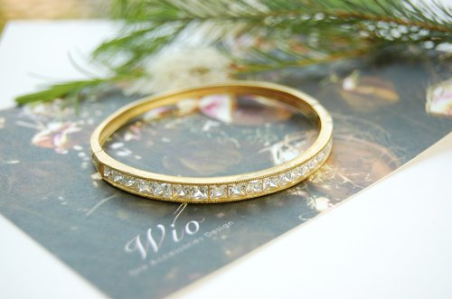 {Wio} ladies small brass zircon bracelet