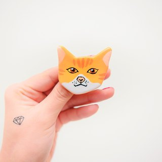 Pet Poultry Baby Cat Series / Orange Cat Neone Pin / Brooch