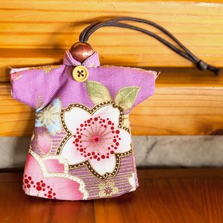 Le LoveRabbit- wind than the rabbit blossoming cherry Sew Wallets - can house keys, clothes modeling, cherry, elegant purple