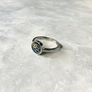 Frozen Time | Plating 925 silver Blue Rose Ring