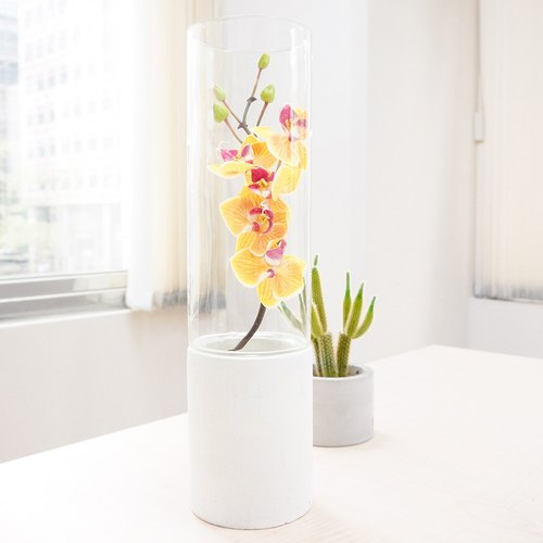 Cement flower | Qing Pu design models: cut glass (white)