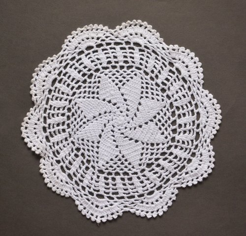German antique lace knit H coasters / placemat / decorative mat
