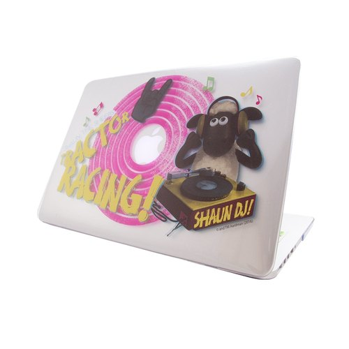 "(Shaun The Sheep) -Macbook Crystal Shell: [DJ Time] (Transparent) ""Macbook Pro / Air 13"" special """