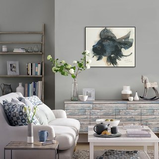 Animal dissident living room wall painting decorative painting modern minimalist bedroom den entrance paintings goldfish