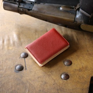 日本製造 牛皮 名片夾 名片盒 红色 Weinheimer made in JAPAN handmade leather card case