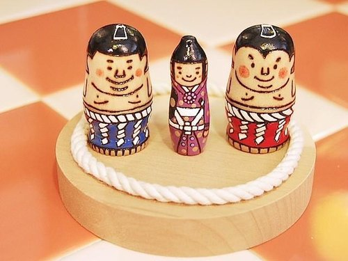 Breed And Seed ○ ○ sumo grand champion and falling sumo referee ○ Kokeshi