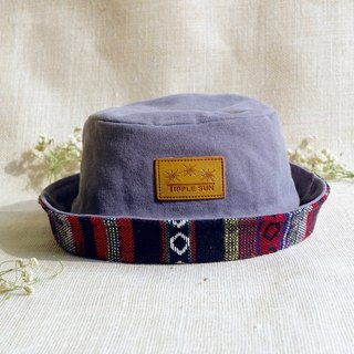 หมวก Tipple Sun Bucket hat  (Gray /Traditional Fabric red)