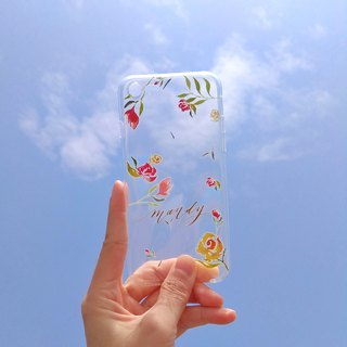 Mstandforc Rose Phone Case | Transparent | for iPhone and Android