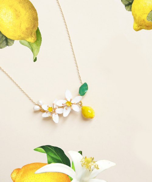 Aramore Summer Fruit Series - Lemon Necklace