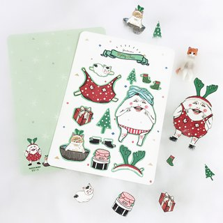 Christmas card - egg paper doll