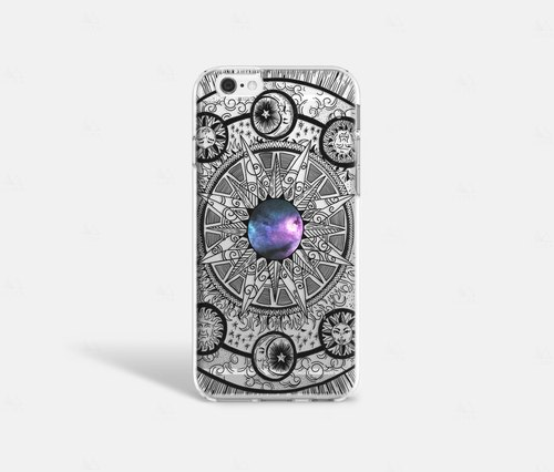 Moon iPhone Case, Moon iPhone 6 Case, Moon iPhone 6S Case, Moon Phone Case, Mandala