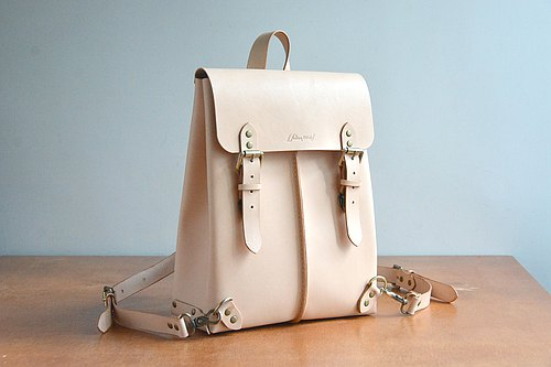 Fading Mist Leather Backpack