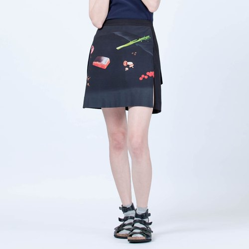 晚餐桌印花短裙 Dinner Printed Short Skirt
