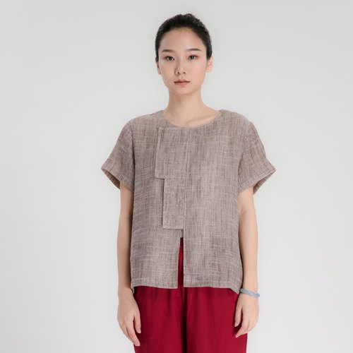 BUFU washed Chinese-style short sleeves shirt  SH160505