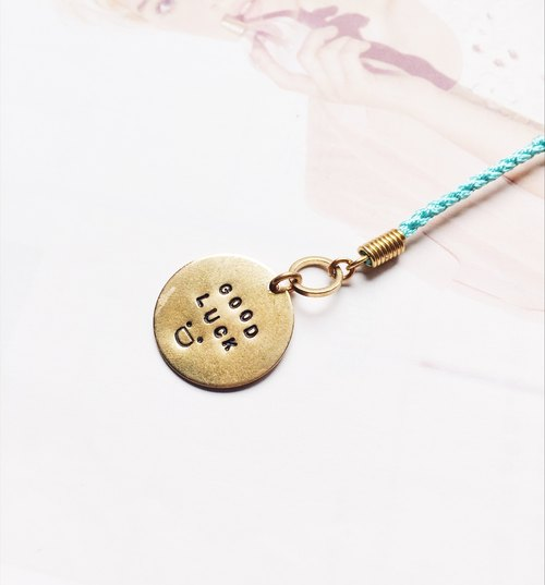 ❈La Don pull winter ❈ - button bracelet - braided wax line - knock word tag
