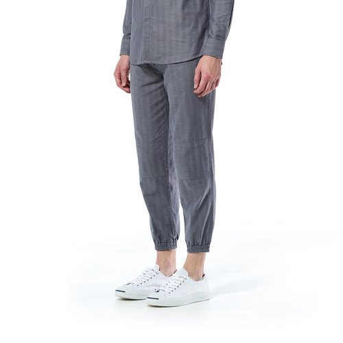 Caveman Pants - Talia Dark Grey Stripe