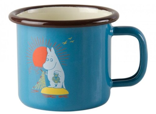 Finnish Moomin Moomin Enamel Mug concentrated 1.5dl / Christmas gift / exchange gifts (2016 summer new Tiffany blue Moomin)