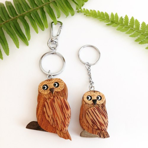 【Handmade Wooden Owl Key Ring / Charm】 ✦ September
