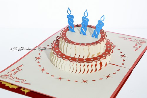 3D stereoscopic celebrate birthday card