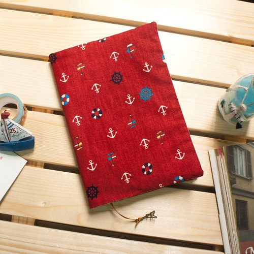 Limited Edition ★ A5 / 25K manual double-sided adjustable cotton clothing book - Nautical diary (red)