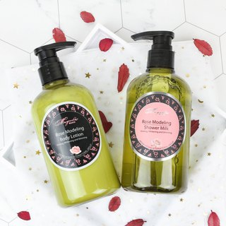 Rose body care group (body milk 500ml / 2 bottles + shower gel 500ml / 1 bottle)