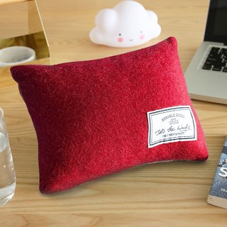 Lunch Break Pillow - Lipstick Red