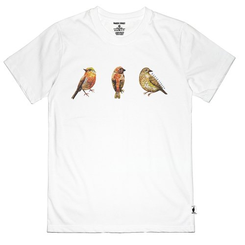 British Fashion Brand [Baker Street] Birds Printed T-shirt