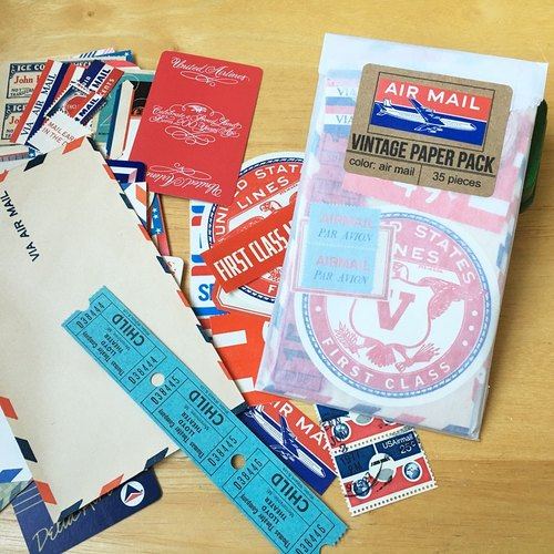 Saturday Morning Vintage / Paper Pack Retro paper sheet package (Air Mail)