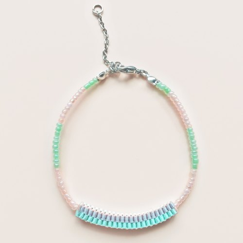 Handmade / Multi-way / Pastel Colors / Beaded Bracelet