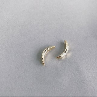 Moon Earring Crescent earrings Travel series sterling silver earrings