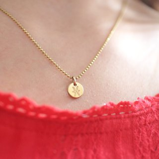 Horoscope sign-brass necklace-Pisces