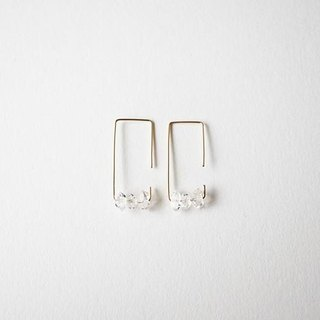 Herkimer diamond pierce 14kgf Herkimer earrings