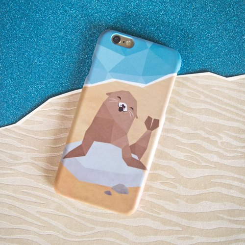 Geometric Sea Lion iPhone case