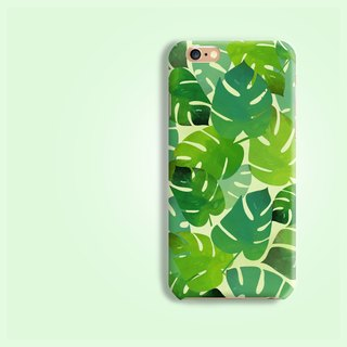 botanic leaf pattern rigid hard Phone Case for iPhone 8 8 plus ip8 ip8+ 7 7plus